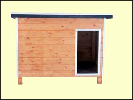 Casetas de madera para perros en varios colores y tamaños
